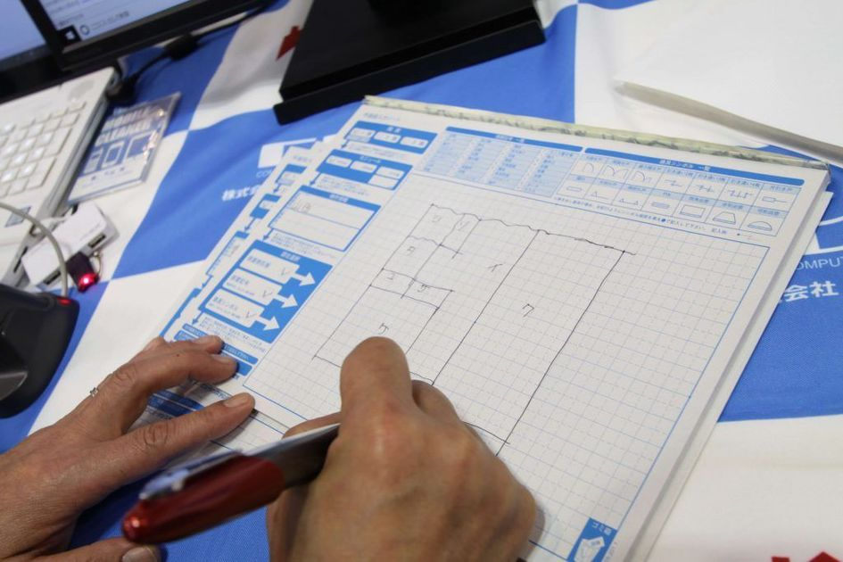 ALTAに専用ペンで間取りを記入